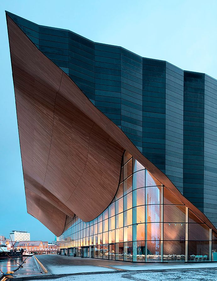 Apply the Faceal Oleo HD on wooden facades of modern architecture.  Photo: Center for Children's Fine Arts, Norway