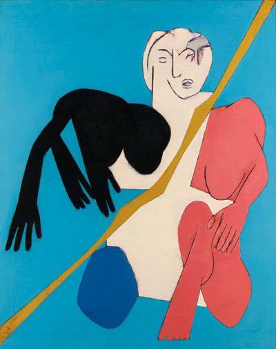 Tyeb MehtaThe Diagonal, 1975