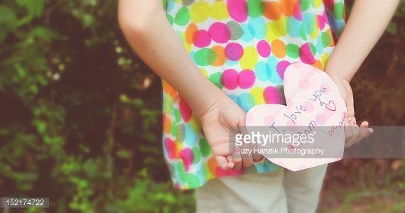 Stock Photo : girl holding letter