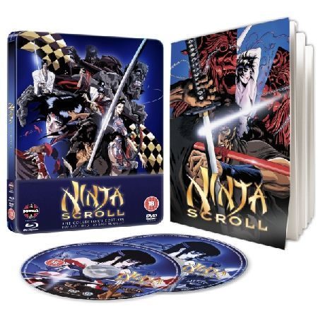 Ninja Scroll Steelbook Blu-ray and DVD Please note this is a region 2 DVD and region B Blu-ray It will require a region B Blu-ray player to play the Blu-ray and DVD or a Region 2 DVD player for the DVD Madhouse Studios anime following the  http://www.MightGet.com/march-2017-2/ninja-scroll-steelbook-blu-ray-and-dvd.asp