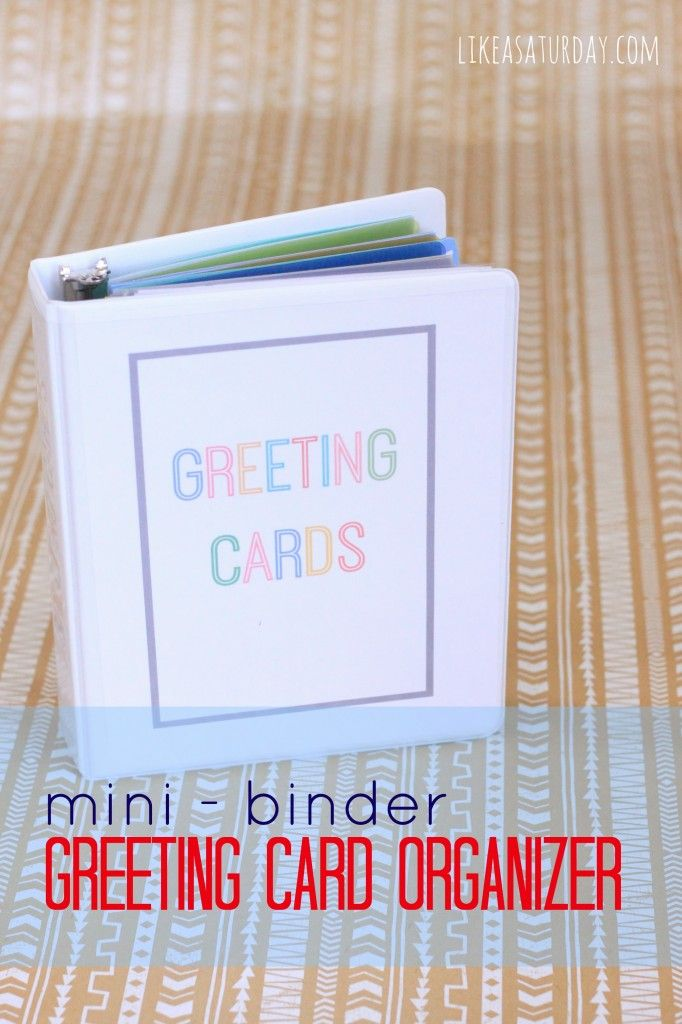 The 14 best images about crafty on pinterest greeting card organizer using a mini binder fully stocked with hallmark value cards m4hsunfo