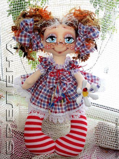 Человечки ручной работы. Ярмарка Мастеров - ручная работа кукла  Моя  Ромашечка. Handmade.
