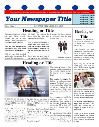 Best Business Newspaper Templates Images On   Free