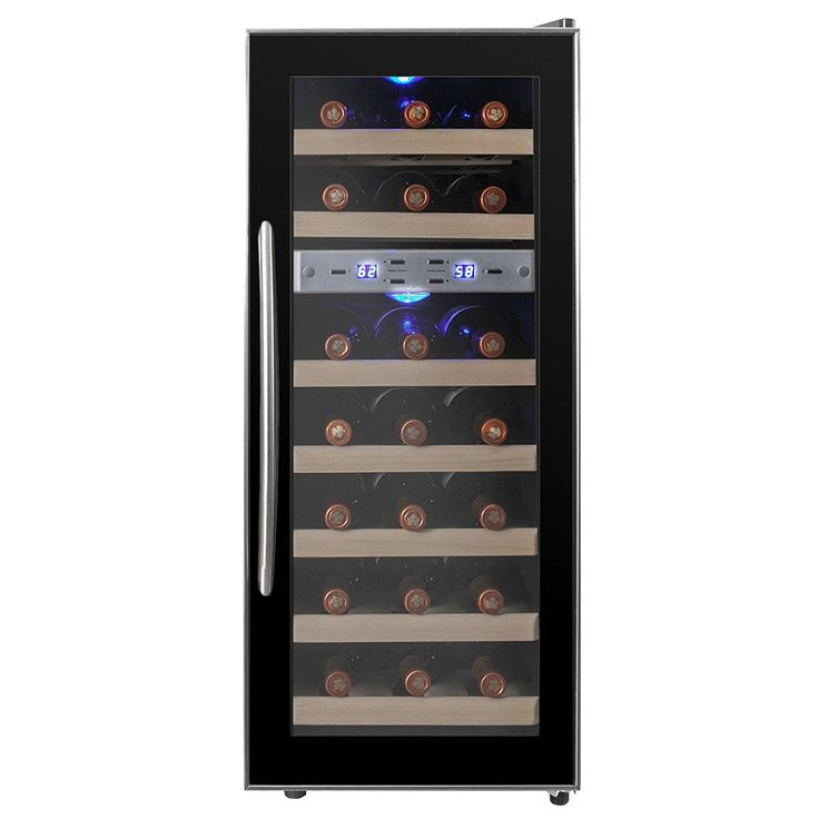 Akdy 21 bottle dual zone thermoelectric