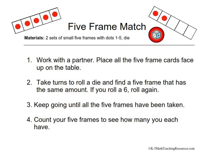 Five Frame Kindergarten Math | Frameswalls.org