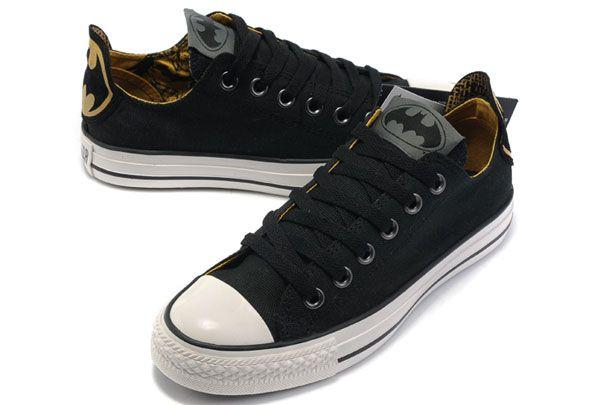 Classic Black Converse Batman Chuck Taylor DC Comics Low Top Canvas Shoes