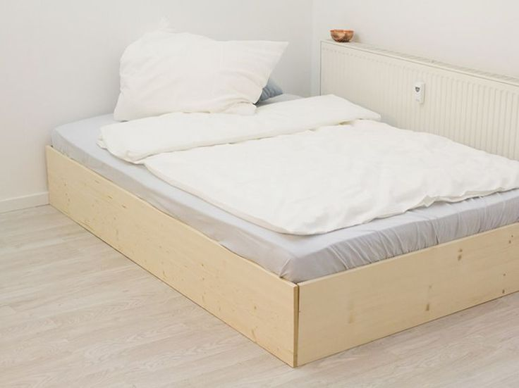 ber ideen zu bett selber bauen auf pinterest diy bett europaletten bett und. Black Bedroom Furniture Sets. Home Design Ideas