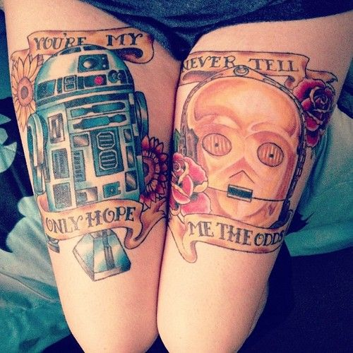 R2D2 and C3P0 by Mike at Original Sin in central Ohio