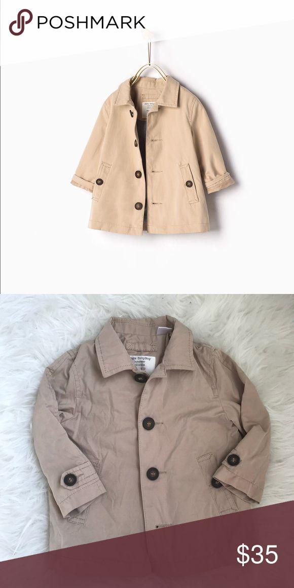 Darling Zara boys trench coat sz 9-12m VEUC Darling Zara boys trench coat sz 9-12m VEUC so so precious Smoke and pet free Zara Jackets & Coats