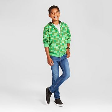 Boys' Minecraft® Creeper Costume Hoodie Outfit
