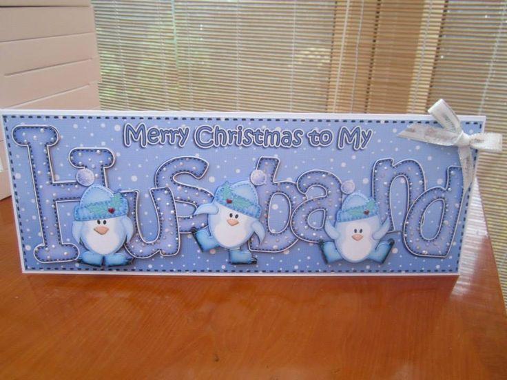 handmade christmas card for husband - Google Search