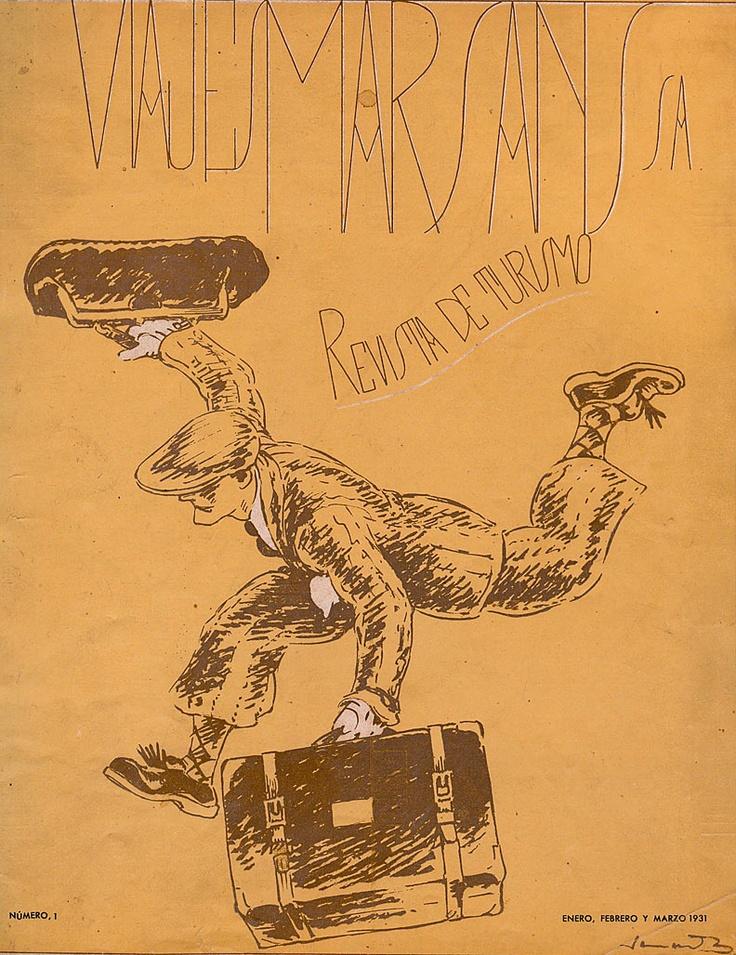Viajes Marsans. Revista de Turismo. Il·lustració de Junceda. Any: 1931