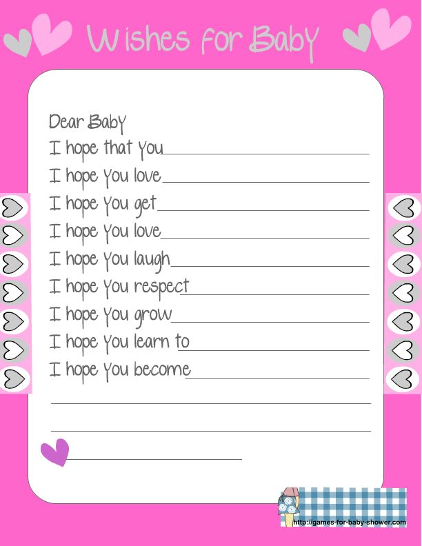 Worksheet Free Baby Shower Games Printable Worksheets 1000 images about baby shower on pinterest pink showers free printables printable wishes for the game