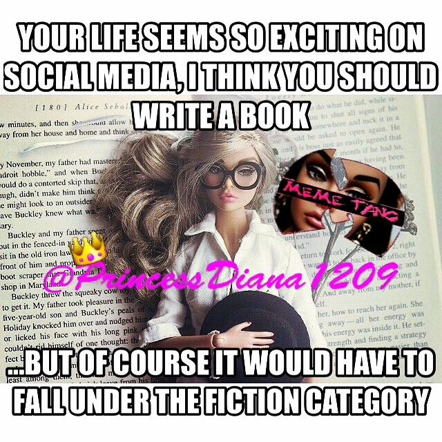 I guess fakeness and fiction do go together after all !!! ~ PrincessDiana1209