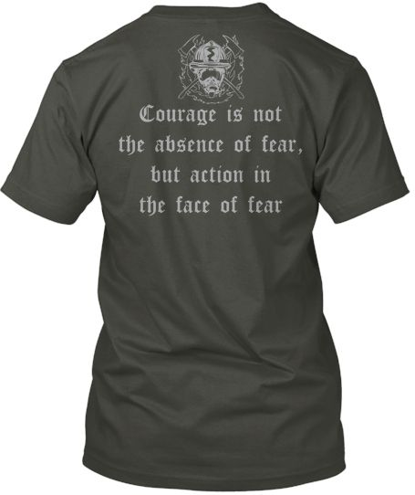 Beautiful Firefighter Tribute shirt - Order Now and please Share. http://teespring.com/CourageOfFirefighters #firefighters #Firemen