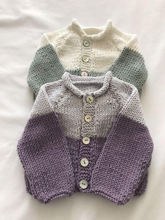 d5e601b1a91e Organic cotton hand knitted/handknitted/handmade/Prem/Premature/Preemie/Newborn  baby girl boy/gift cardigan/jacket green white grey purple