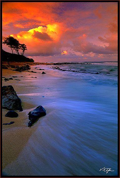 Coastal Sunset - Photos of Hawaii Pictures