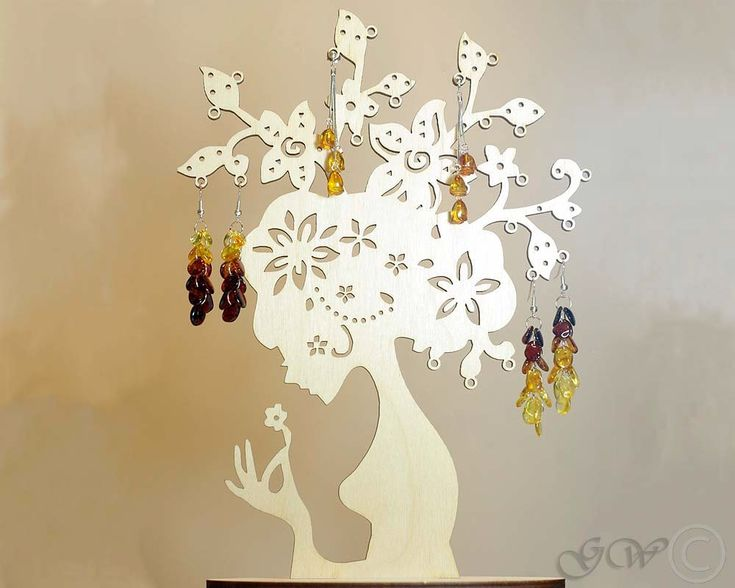 Wooden Jewelry Tree, Earring Tree,Earring Holder,Jewelry Stand, Jewellery Display by GreenWoodLT on Etsy https://www.etsy.com/listing/170302127/wooden-jewelry-tree-earring-treeearring