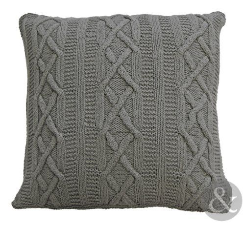 "100% COTTON ARAN CUSHIONS - Grey Thick Large Knitted Cushion Covers Cushion Cover 22"" x 22"" by Just Contempo, http://www.amazon.co.uk/dp/B00DGVMWRE/ref=cm_sw_r_pi_dp_yv6Nsb0PAPMN8"