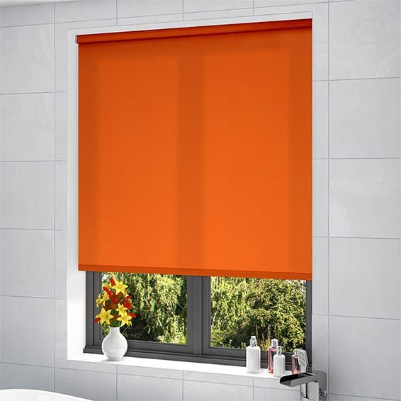 Valencia Simplicity Orange Roller Blind