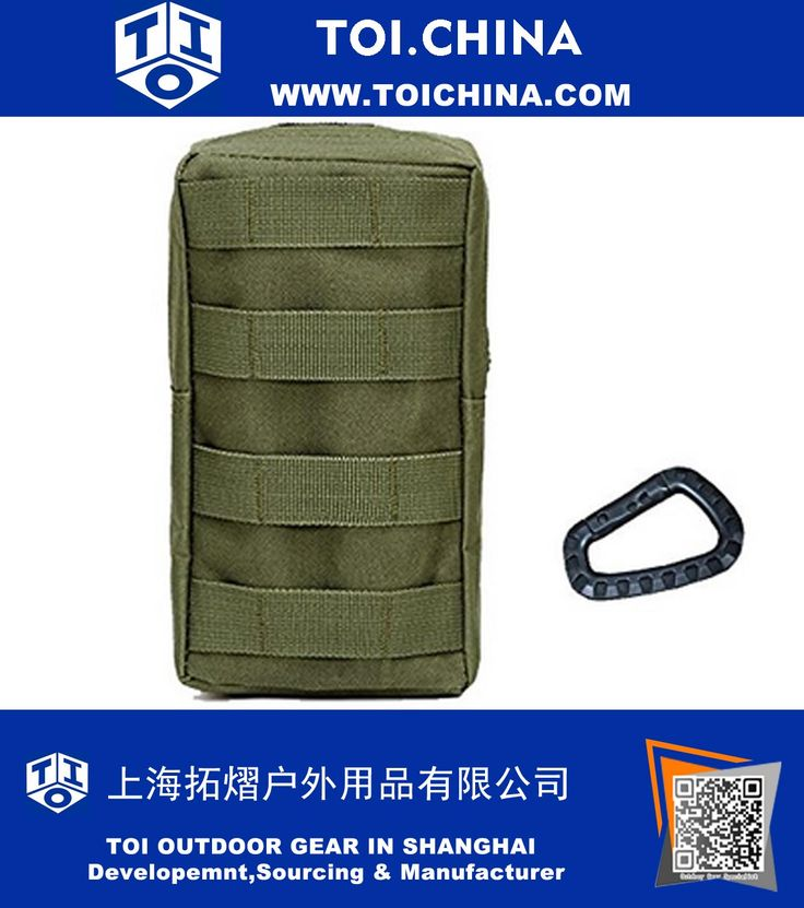 Medium Tactical Molle Accessory EDC Pocket Pouch with Carabiner, TY-EM039