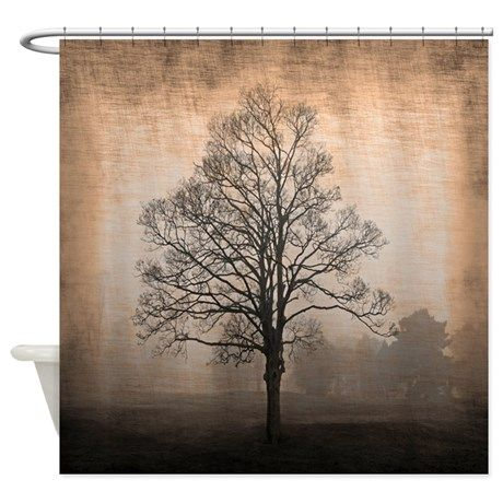 Abandoned Tree Shower Curtain on CafePress.com