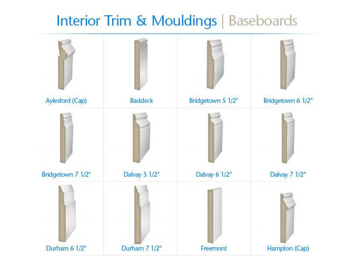Baseboard options for the home pinterest products for Clamshell door casing