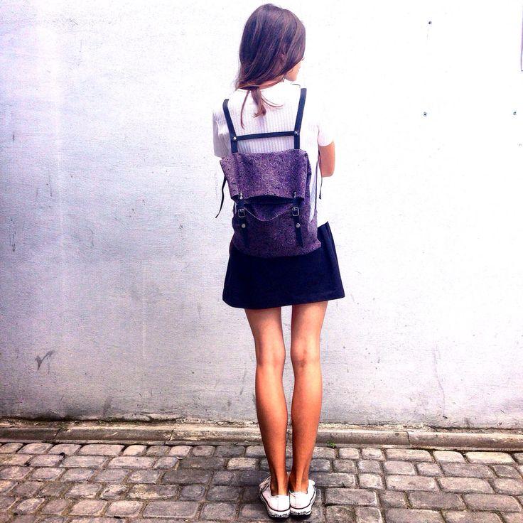 Backpack diy sewing girl street style