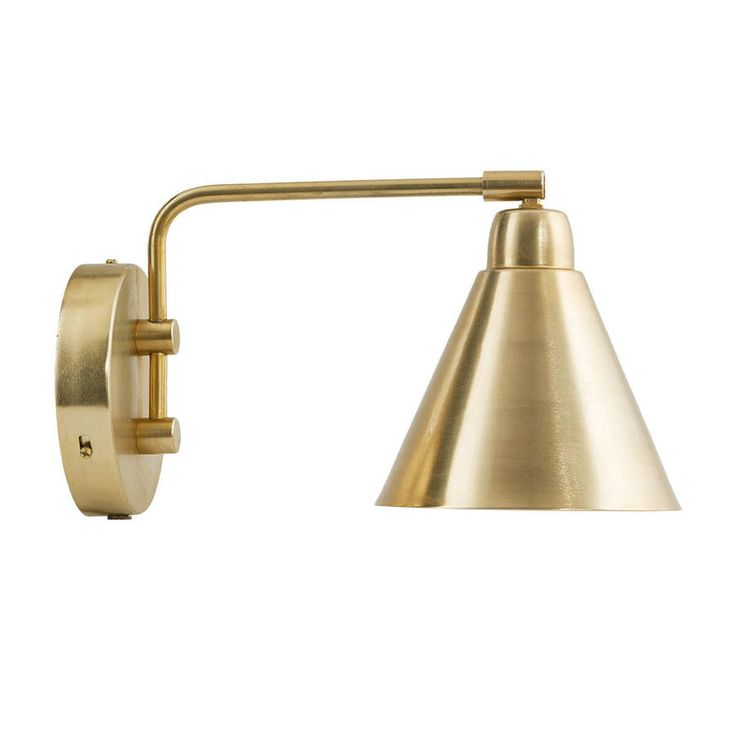 Brass And White Wall Light