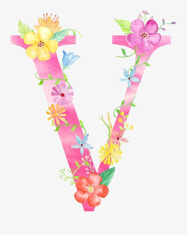 Flowers Letter V Letter Clipart Flower Letter Png Transparent Clipart Image And Psd File For Free Download Letras Com Flores Imagem Nuvem Protecao De Tela