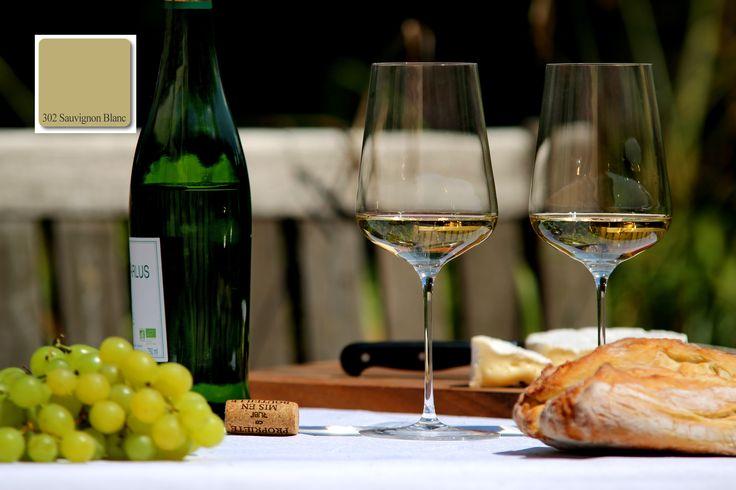Farbton der apprico Colours No 302:  Sauvignon Blanc(Element HOLZ)  #appricoColours #fengshui