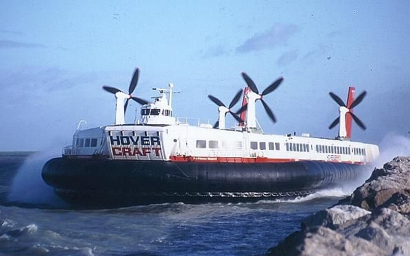 HOVER CRAFT FROM DOVER ENGLAND TO CALAIS FRANCE