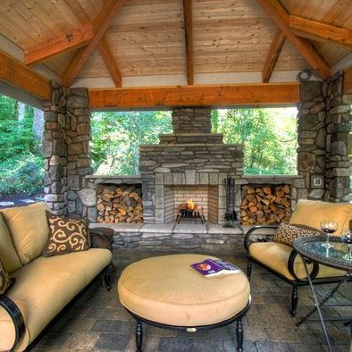 Home Diy Remodeling Beautiful Outdoor Fireplace And