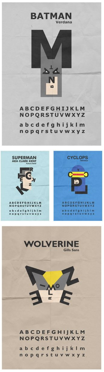 Typography Nerds and Super Hero Geeks. Your Venn diagram is waiting to be filled.
