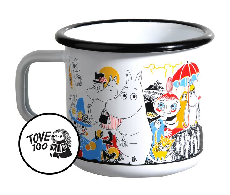 In 2014, 100 years will have past since the birth of Tove Jansson (1914-2001). In honor of this, Moomin Characters is working together with Unicef to support children's education all around the world. For every mug sold, 1 € goes directly to Unicef.  The motive for the mug is taken from Moomin Book One: The Complete Tove Jansson Comic Strip.