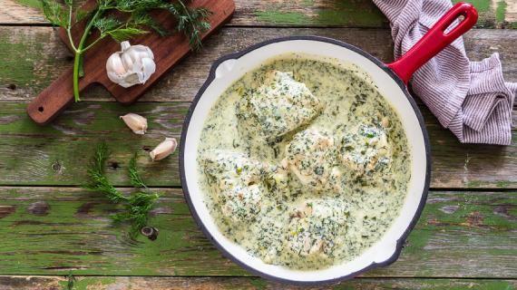 Курица с укропом и чесноком, пошаговый рецепт с фото