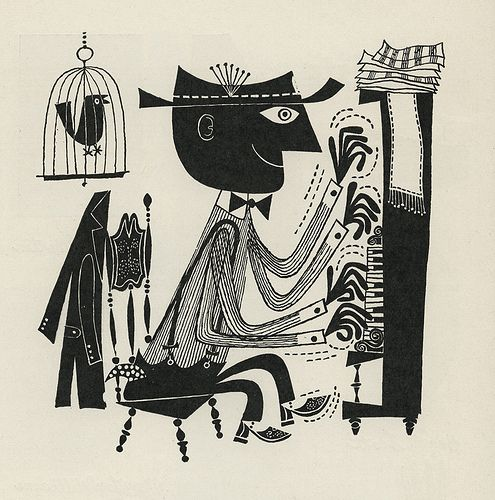 The First Book of Jazz, by Langston Hughes. Written in 1955, the book has really beautiful illustrations by Cliff Roberts