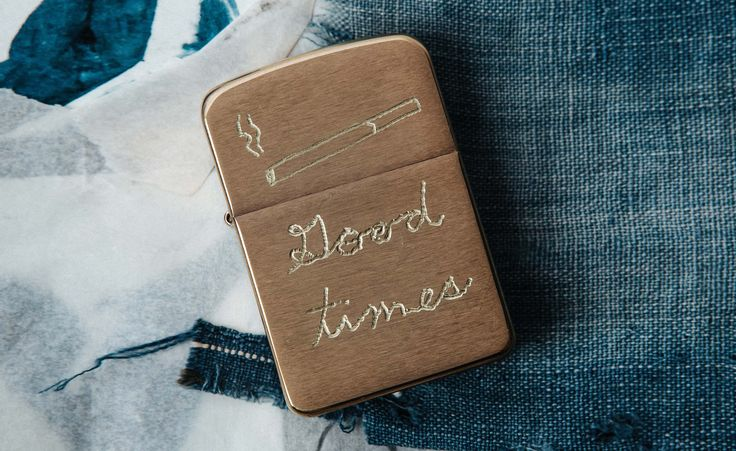 "engraved ""good times"" brass zippo"