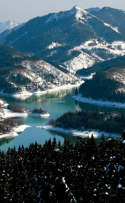 Visit Greece | Lake Plastiras, Karditsa, Greece (by Ntinos Lagos) #visitgreece #greece