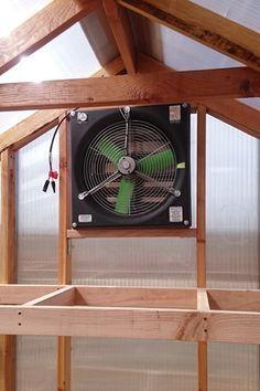 Solar Powered Greenhouse Fan. #snapfans #greenhousefans #solarfans
