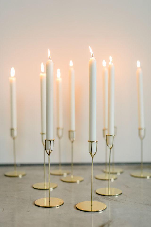 Modern gold candlesticks | 135 Milimetros
