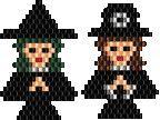 Witch & Pilgrim Pin or Earrings Bead Pattern at Sova-Enterprises.com