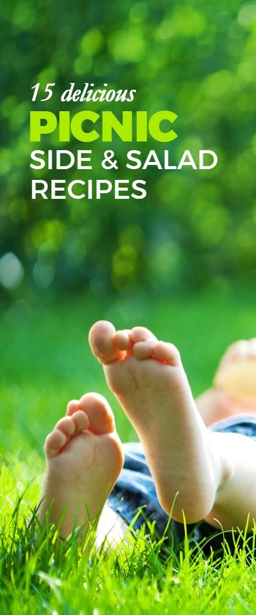 15 Delicious Picnic Side and Salad Recipes -- Heading outside to eat? Use this list of side and salad recipes to make your next picnic, BBQ, potluck, or dinner more awesome!