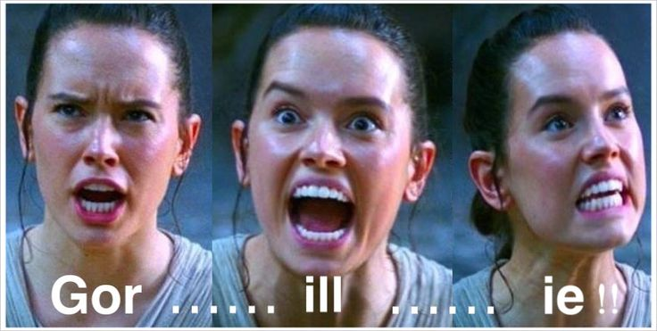 Rey from Star wars The force awakens helps out with how you Pronounce Gorillie. Our funny take on memes we create all our own material with Fun & entertainment please help our production company with a simple like & share with our content to your social media Memes, cartoons, videos and games all at silverswan.com.au .  Thank you for your help and support.  :-)