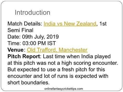 India Vs New Zealand 1st Semi Final Dream11 Prediction Team Ind Vs Nz F Semi Final Predictions