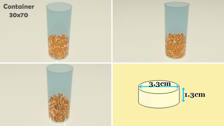 Bottle cap simulations. 540 caps= 1 kilo