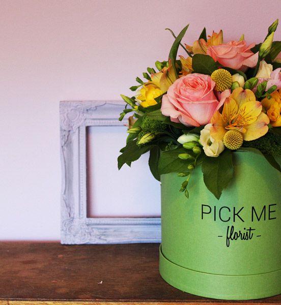 Hat box arrangement from Pick Me