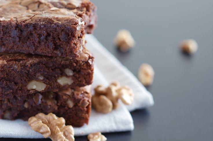 Brownies 2.0 met walnoten (gluten- en lactosevrij)
