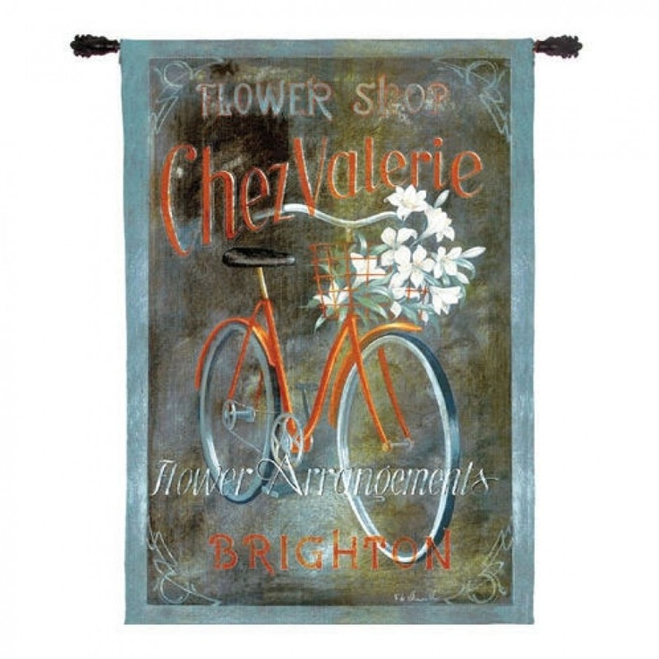 Fine Art Tapestries Chez Valerie Tapestry Fabrice Devillenueve 2078 Wh Fine Art Tapestries Hanging Wall Art Tapestry