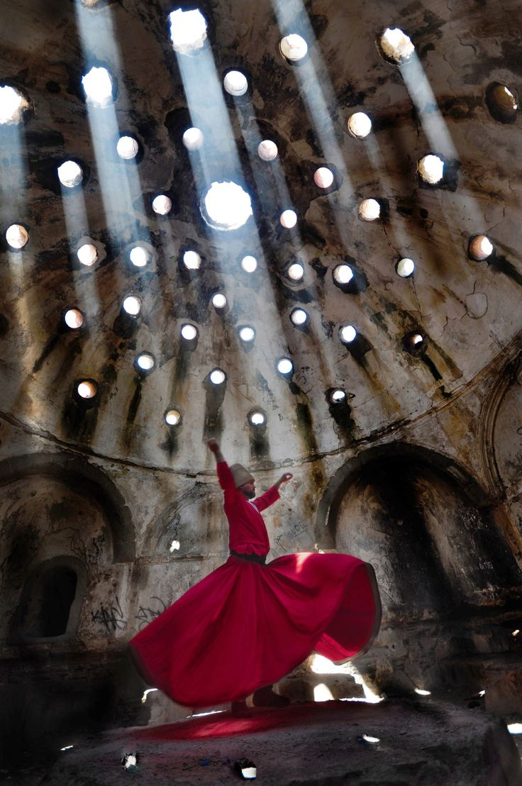 Top Shot: Dancing in the Light Top Shot features the photo with the most votes from the previous day's Daily Dozen. The Daily Dozen is 12 photos chosen by the Your Shot editors each day from thousands of recent uploads. Our community has the chance to vote for their favorite from the selection. A Dervish dances through afternoon light pouring in from the roof. Photograph by Hasan Açan